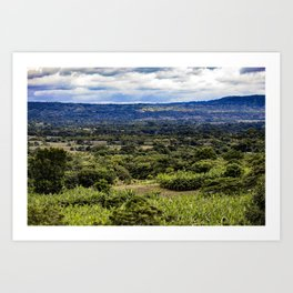 Stunning Views of the Nicaraguan Countryside and Farms from the Rainforest of Nicaragua Art Print