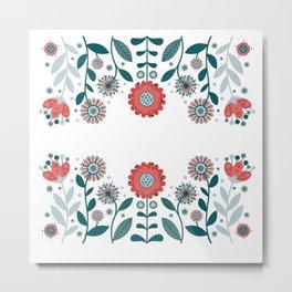 Scandinavian Flowers  Metal Print