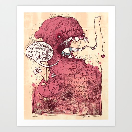 Manic morning Art Print