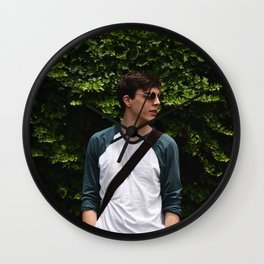 Isaac in Green Wall Clock