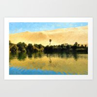 Gaber-Oun Oasis Lake Art Print