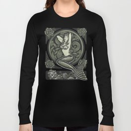 Vintage Classic Mermaid Pinup Long Sleeve T-shirt