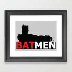 Bat Men Framed Art Print