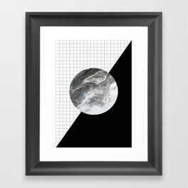 Grid and marble Framed Art Print