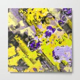 Purple Yellow Passion Metal Print