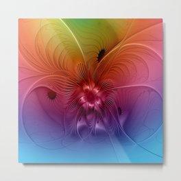Colorful Abstract Fantasy Fractal Metal Print