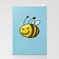 bee Stationery Cards featuring Bee by MaComiX