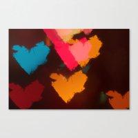 hearts Canvas Prints featuring Hearts by Tanya Thomas