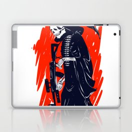 Military skeleton - grim soldier - gothic reaper Laptop & iPad Skin