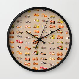 Sushi set Wall Clock