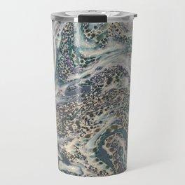 Metallic Marbled Agate Travel Mug