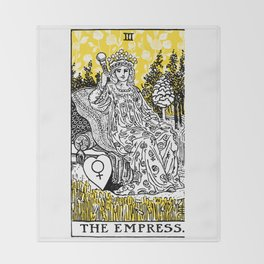 A Floral Tarot Print - The Empress Throw Blanket