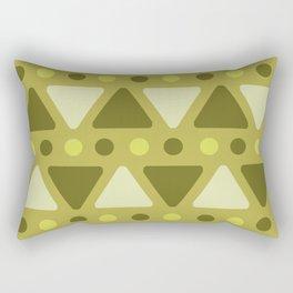 Mid Century Modern Triangles Dots Chartreuse Rectangular Pillow