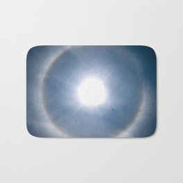 Rainbow Around the Sun Bath Mat