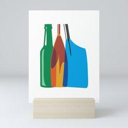 Rowing Oars Evolution in color Mini Art Print