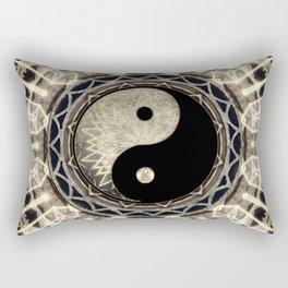 Yin Yang Geometry Mandala V1 Rectangular Pillow