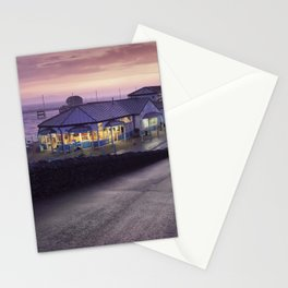 Mumbles Pier and Beach Hut Cafe Stationery Cards