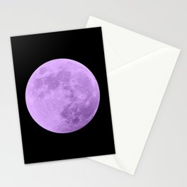 LAVENDER MOON // BLACK SKY Stationery Cards