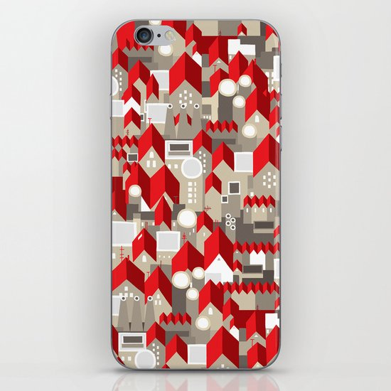 red roofs iPhone & iPod Skin
