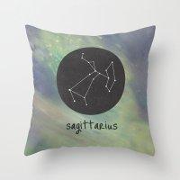 sagittarius Throw Pillows featuring Sagittarius by snaticky