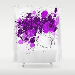 Free as my Hair Shower Curtain
