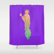 The Golden God Shower Curtain