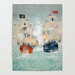 the pirate ship Poster