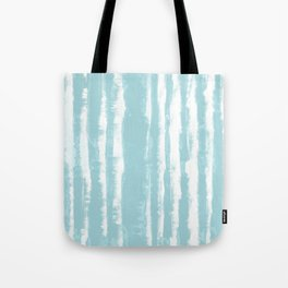 Shibori Stripe Seafoam Tote Bag