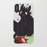 toothless iPhone & iPod Cases featuring Toothless by Flaroh
