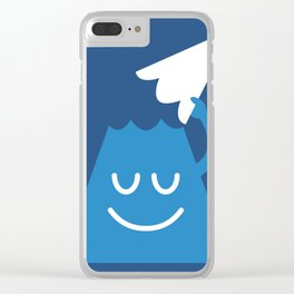 A Friendly Mountain Greeting Clear iPhone Case