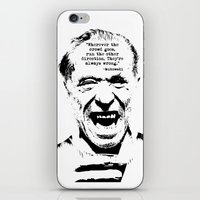 bukowski iPhone & iPod Skins featuring Charles Bukowski Quote Crowd by Fligo