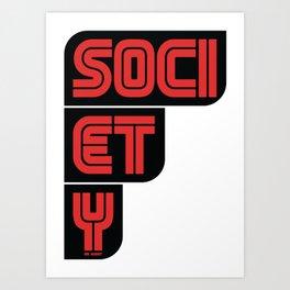 F SOCIETY - Mr.Robot Art Print
