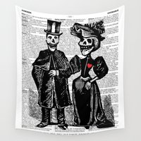calavera Wall Tapestries featuring Calavera Couple by Eclectic at HeART