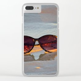 Sunglasses On The Beach Clear iPhone Case