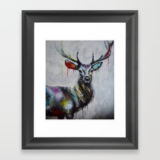 King Deer Framed Art Print