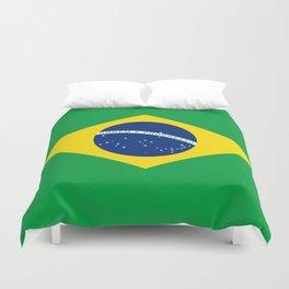 Brazilian National flag Authentic version (color & scale) Duvet Cover