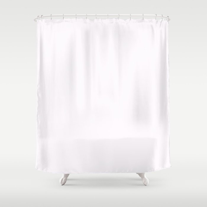 Pale Wisteria White 2018 Fall Winter Color Trends Shower Curtain