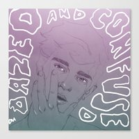 dazed and confused Canvas Prints featuring Dazed n Confused -Pastel by carolinemills