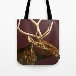 Big Bull Elk Profile Tote Bag