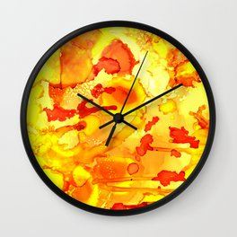 Alien Yellow Wall Clock