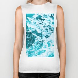 Deep Turquoise Sea - Nature Photography Biker Tank