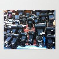 cameras Canvas Prints featuring Cameras by Irma