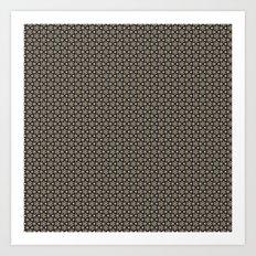Brown Gold Elegant Pattern Art Print