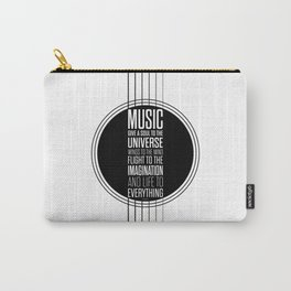 Lab No. 4 - Plato philosopher Inspirational Music Quotes  poster Carry-All Pouch