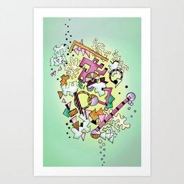 Geostuff Art Print