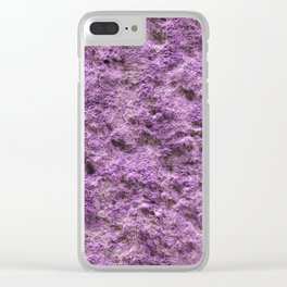 Concrete texture Ultraviolet Solid background close-up abstract Clear iPhone Case