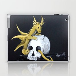 Gold Dragon & Skull Laptop & iPad Skin