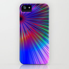 Pastel burst iPhone Case