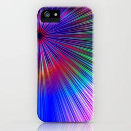 Pastel burst iPhone Case