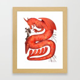 The Warrior and the Worm Framed Art Print